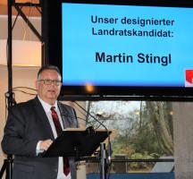SPD-Landratskandidat Martin Stingl stellte sein Zehn-Punkte-Programm vor.