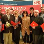 Die Generalsekretärin der BayernSPD, Natascha Kohnen (5. von links) zeichnete zahlreiche Jubilarinnen und Jubilare aus.