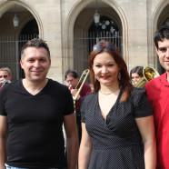 Gemeinsam für die Bundestagswahl: die designierte SPD-Bundestagskandidatin Doris Aschenbrenner mit SPD-Stadtverbandsvorsitzendem Stefan Sauerteig (rechts) und SPD-Kreisvorsitzendem Carsten Höllein.